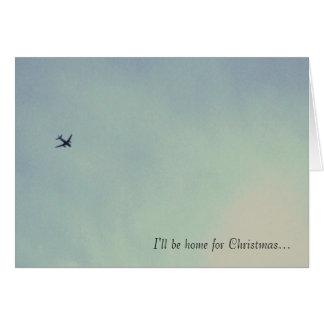 Seré casero para el navidad… tarjeta de felicitación