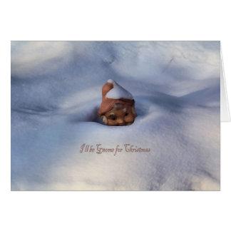 Seré gnomo para el navidad tarjeta de felicitación