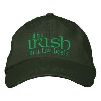 Seré irlandés en algunas cervezas gorra bordada