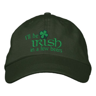 Seré irlandés en algunas cervezas gorro bordado