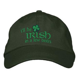 Seré irlandés en algunas cervezas gorra de beisbol bordada