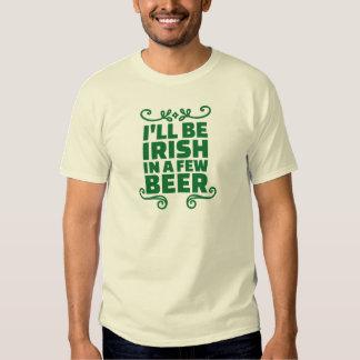 Seré irlandés en algunos cerveza playeras