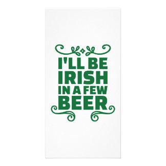 Seré irlandés en algunos cerveza tarjetas fotográficas personalizadas