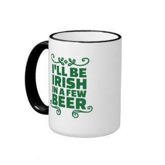 Seré irlandés en algunos cerveza taza a dos colores