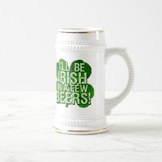Seré irlandés en pocas cervezas tazas