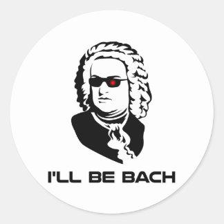 Seré Johann Sebastian Bach Pegatina Redonda