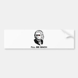Seré Johann Sebastian Bach Pegatina Para Auto