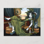 Serena Eclectic Sunset Cat Fairy Postcard