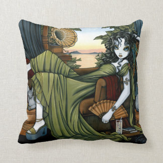 Serena Eclectic Sunset Cat Fairy Throw Pillow