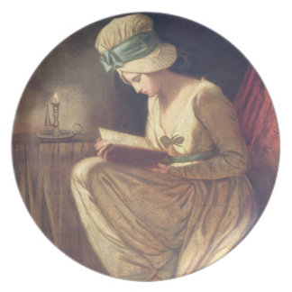 Serena (oil on canvas) melamine plate