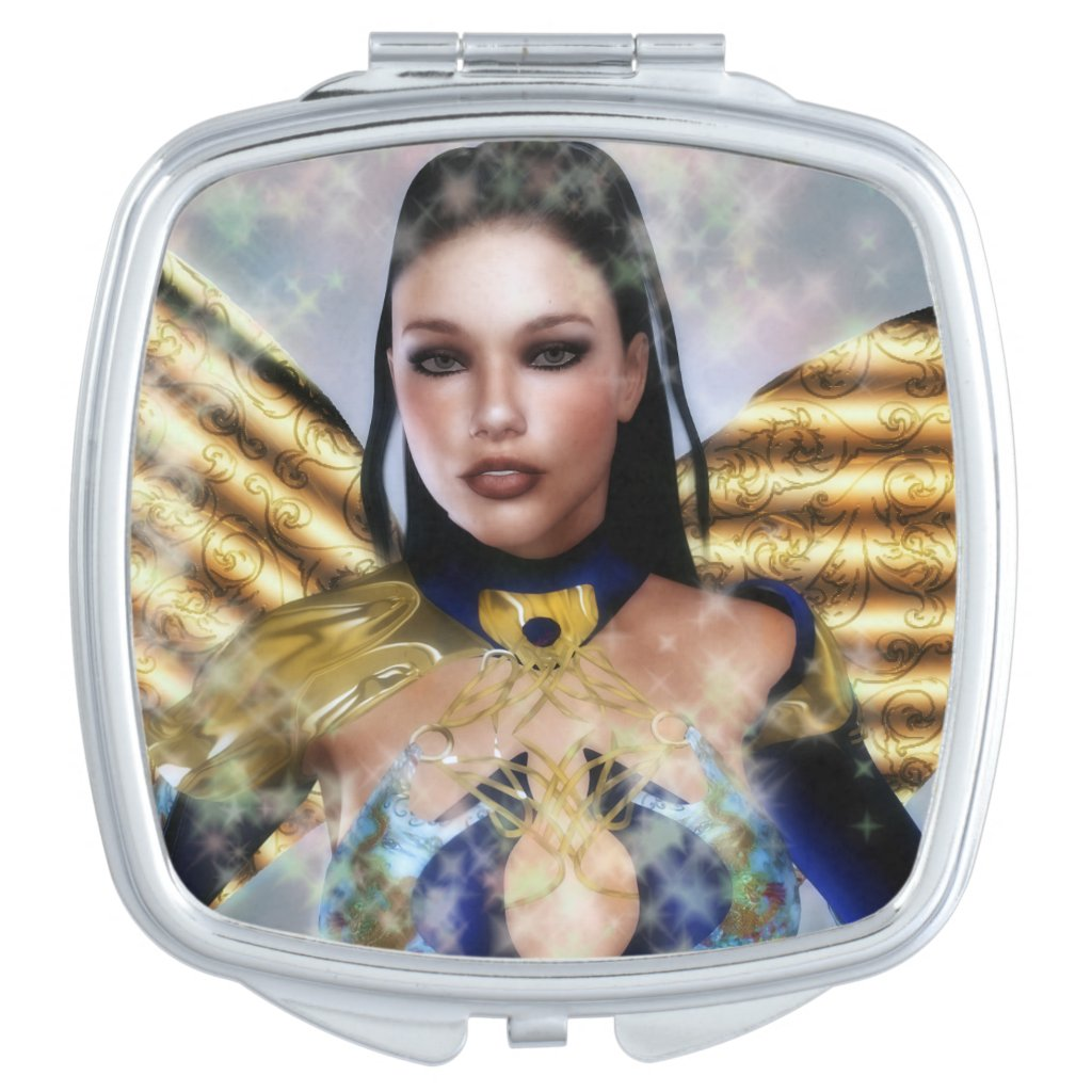 Serena the Dark Haired Fairy Compact Mirror