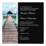 Serenade Jetty Maldives Beach Wedding -black 13 Cm X 13 Cm Square Invitation Card