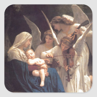 Serenade of Angels Square Sticker