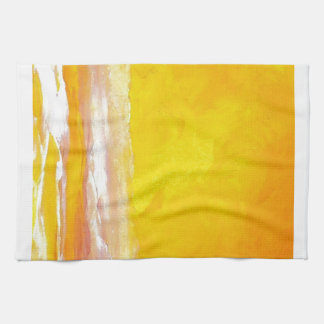Serenade of Light Yellow Gold Ocean Sky Sea Waves Towel