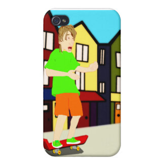 Serenading Skateboarding Dude iPhone Case