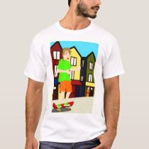 Serenading Skateboarding Dude T-Shirt