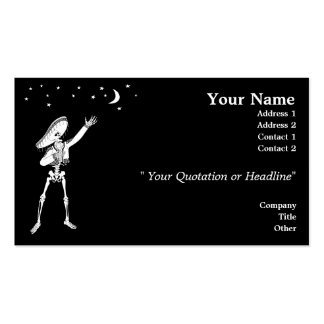 Serenading Skeleton Double-Sided Standard Business Cards (Pack Of 100)