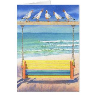 Serenata de la playa felicitación