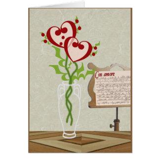 Serenata de la tarjeta del día de San Valentín