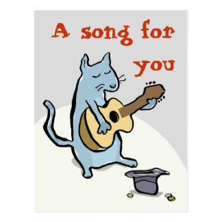 serenata del gato - personalizable postal