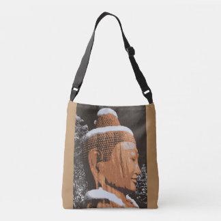 serence buddha face tote bag