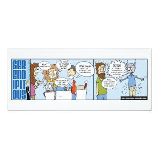 Serendipitous Strip 56 4x9.25 Paper Invitation Card