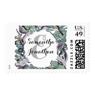 Serendipity Floral Forest Wedding Suite Postage