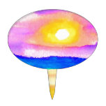 Serendipity Ocean Lake Sunset Art Cake Pick