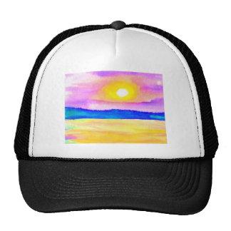 Serendipity Ocean Lake Sunset Art Mesh Hats