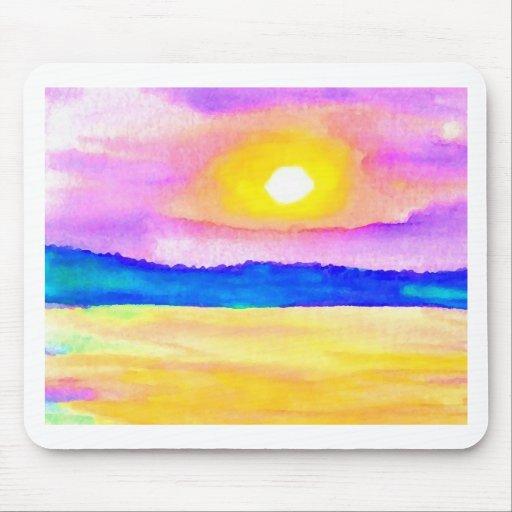 Serendipity Ocean Lake Sunset Art Mousepads