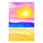 Serendipity Ocean Lake Sunset Art Personalized Stationery