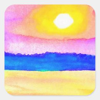 Serendipity Ocean Lake Sunset Art Sticker