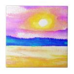 Serendipity Ocean Lake Sunset Art Tiles