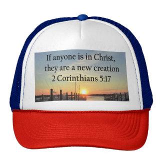 SERENE 2 CORINTHIAN 5:17 SUNSET PHOTO TRUCKER HAT