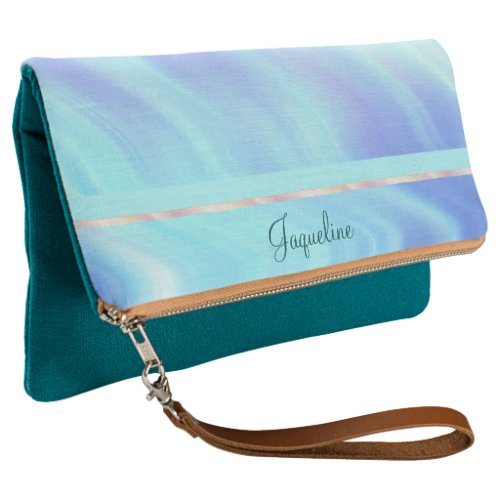 Serene Abstract Waves Clutch