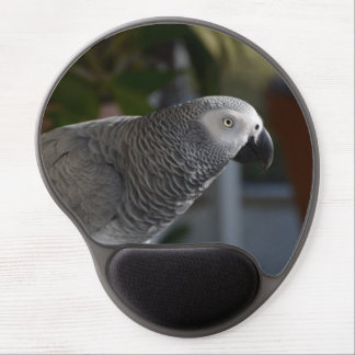 Serene African Grey Parrot Gel Mouse Pad