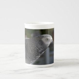 Serene African Grey Parrot Tea Cup