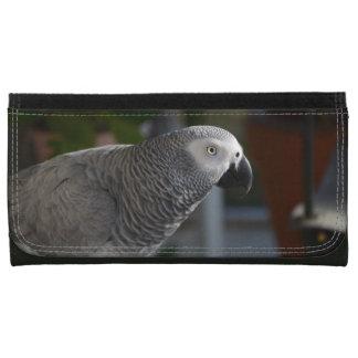 Serene African Grey Parrot Women's Wallet