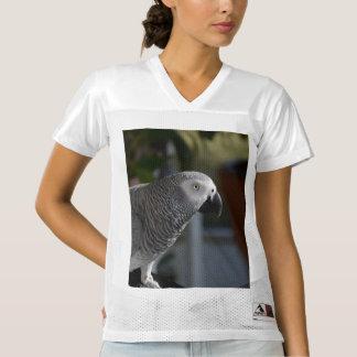 Serene African Grey Parrot Women's Football Jersey