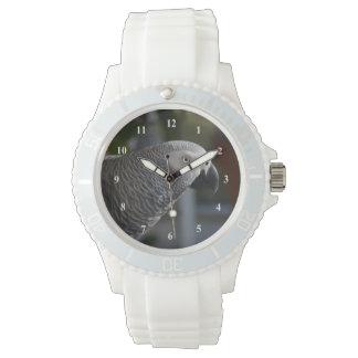 Serene African Grey Parrot Wristwatch