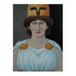 Serene Athena Icon Postcard