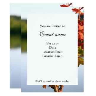 Serene Autumn Fall scenery tree lake Invitation