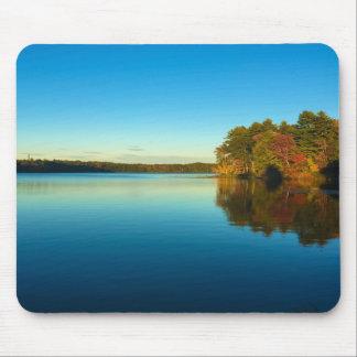 Serene Autumn Lake Mouse Pad