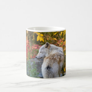 Serene Autumn Wolf Coffee Mug