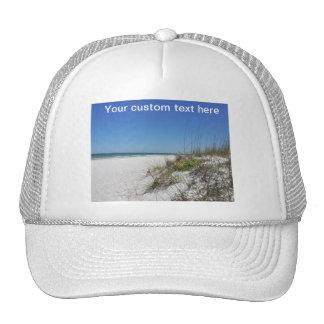 Serene Beach Sea Oats 2 Florida Beach Scene Trucker Hat