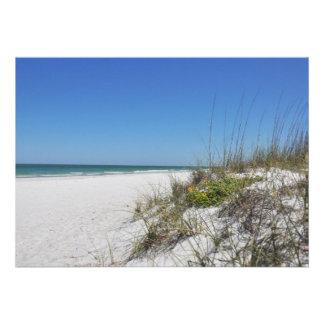 Serene Beach Sea Oats 2 Florida Beach Scene Custom Invites