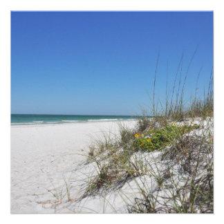 Serene Beach Sea Oats 2 Florida Beach Scene Personalized Announcement