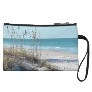 Serene Beach Sea Oats & Blue Water Wristlets