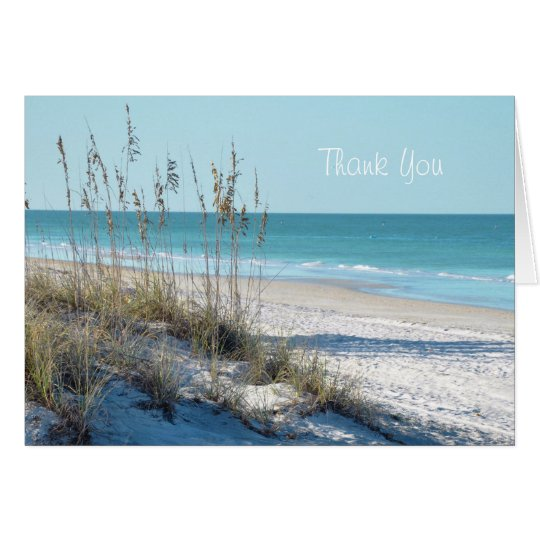 Serene Beach Sea Oats & Blue Water Card