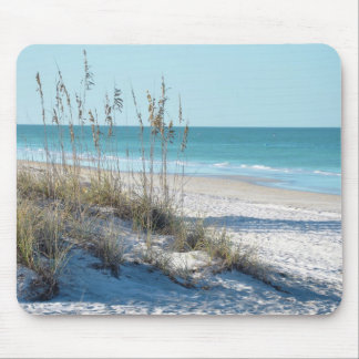 Serene Beach Sea Oats & Blue Water Mouse Pad